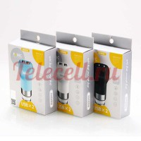 Remax Flins Car Charger 2USB 2.4A RCC207