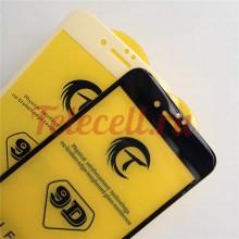 Цветное защитное 9D стекло на iPhone 7/8P белое и черное