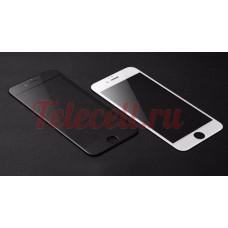 Цветное защитное 5D стекло на iPhone 7P/8P белое и черное