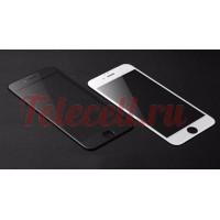 Цветное защитное 5D стекло на iPhone 6P/6SP белое и черное