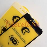 Цветное защитное 9D стекло на iPhone 6P/6SP белое и черное