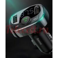 Автомобильное зарядное устройство с FM-трансмиттером 2xUSB Baseus T typed Bluetooth MP3